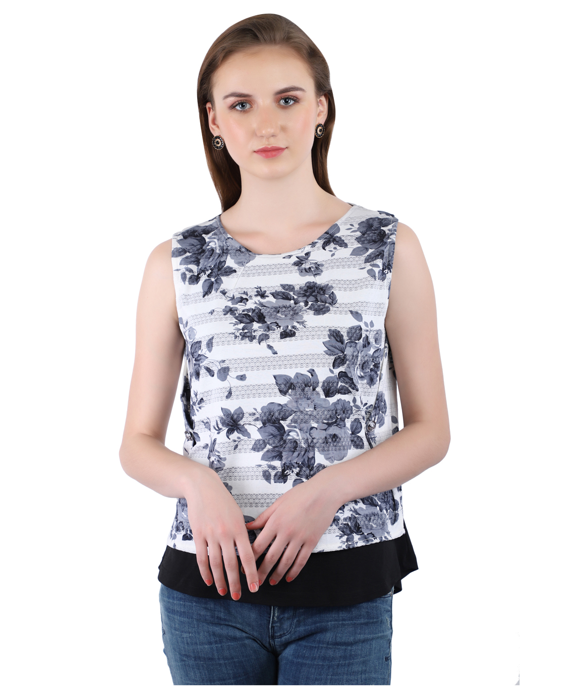 Swag Color Imported  Streachable Fabric Cotton Top For Women