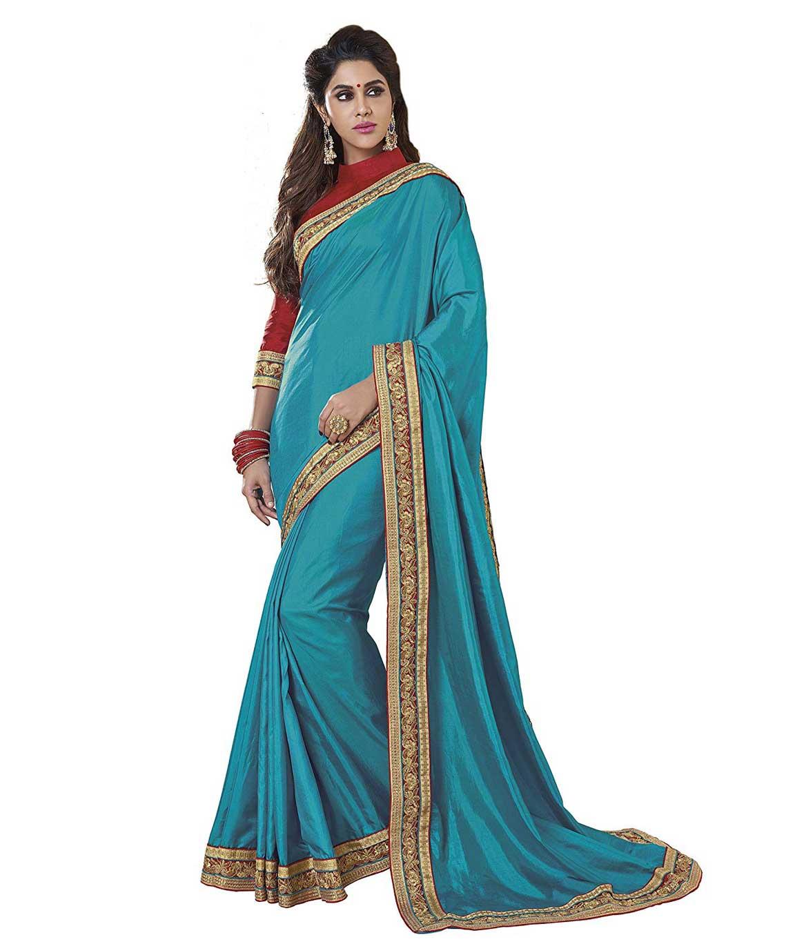 Shangrila Designer Silk Saree(SACHI2-7992_Blue_Free Size)