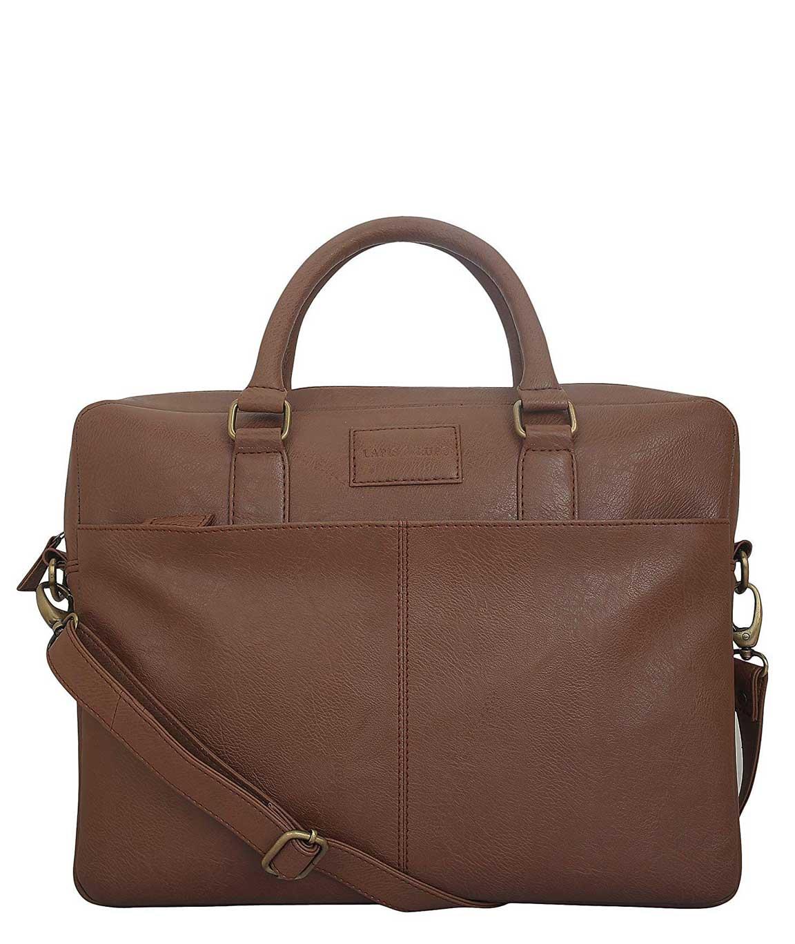 Lapis O Lupo Tuscan Synthetic Tan Laptop Bag