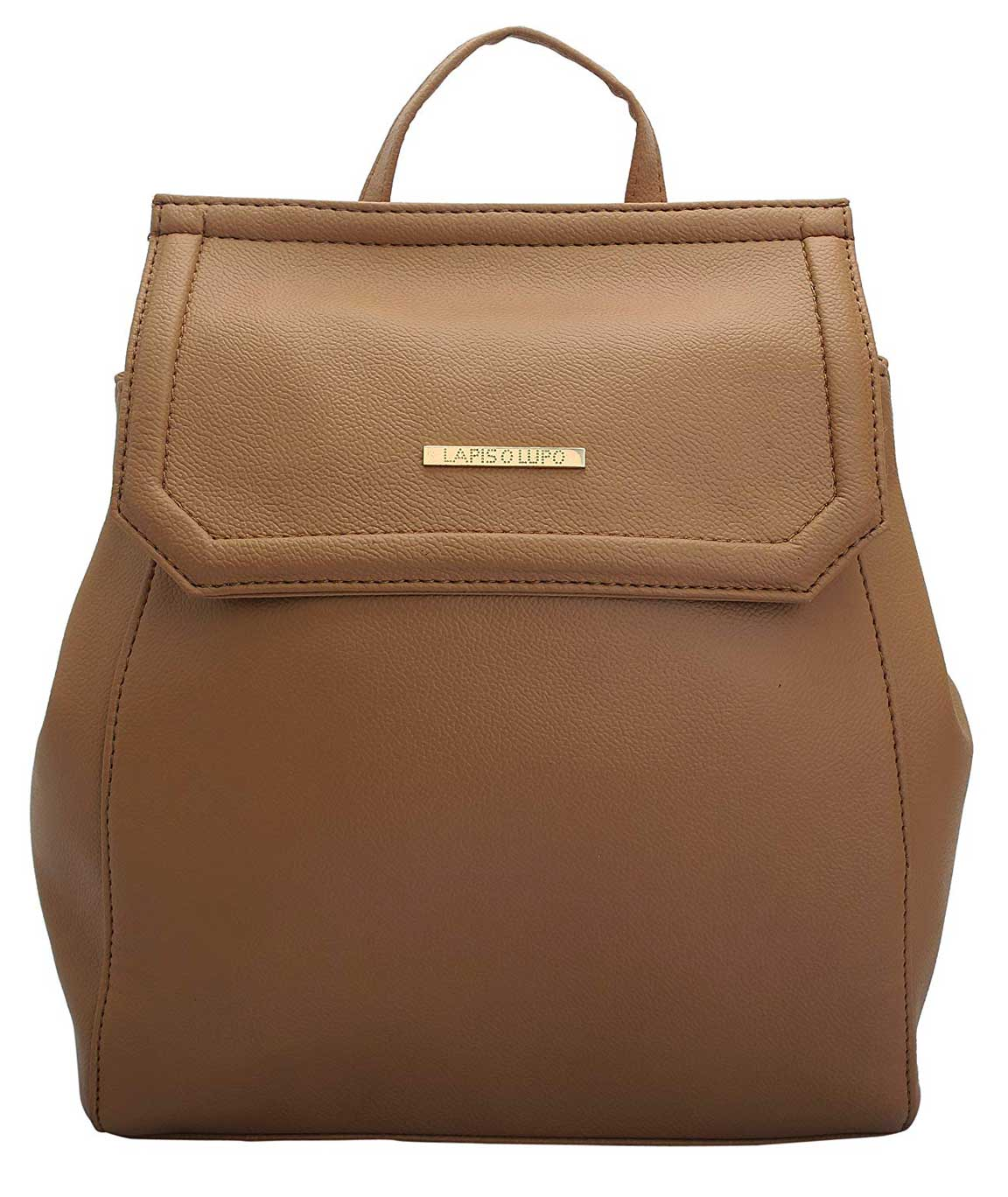 Lapis O Lupo Taupe Women Backpack (Beige)