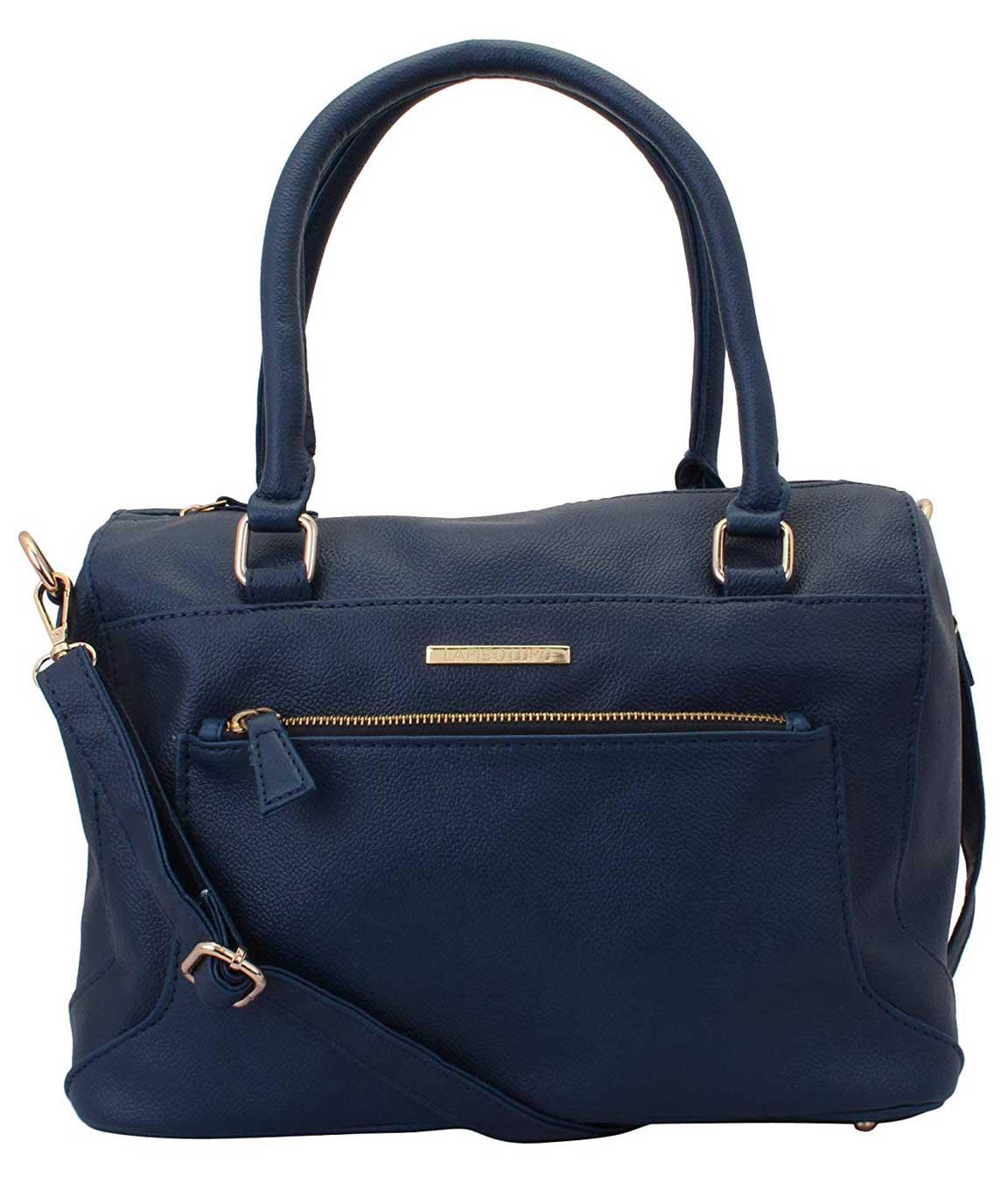 Lapis O Lupo Women`s Synthetic Handbag (Blue)