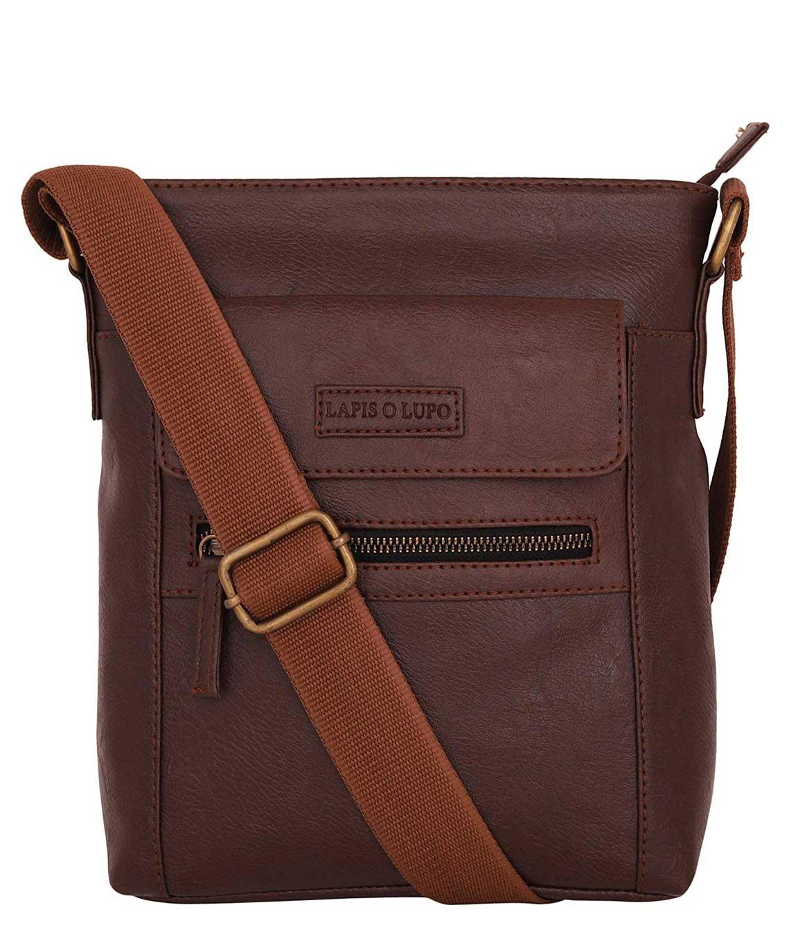 Lapis O Lupo Trendy Men Sling Bag (Brown)
