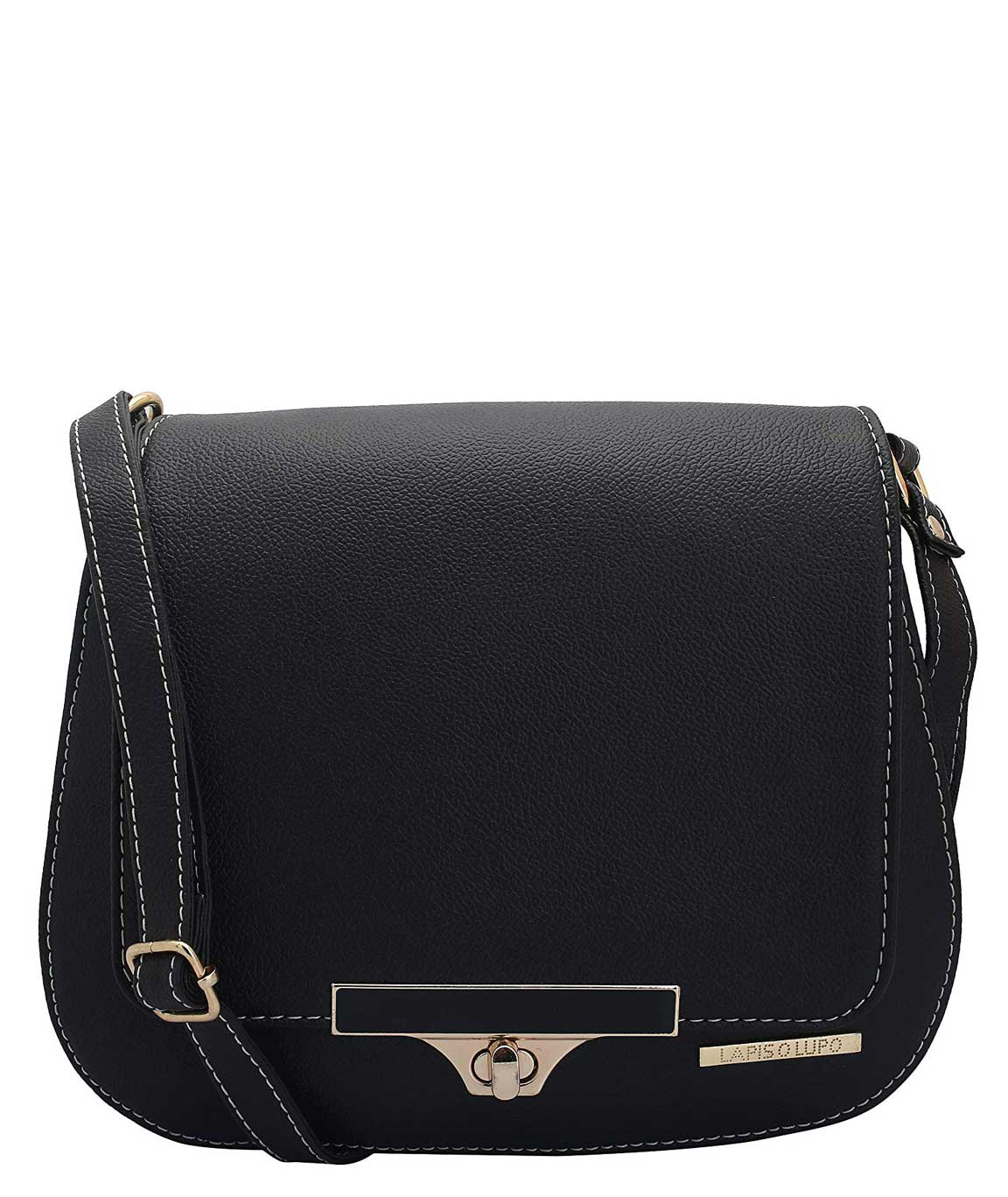 Lapis O Lupo Women`s synthetic Noire Brown Sling Bag