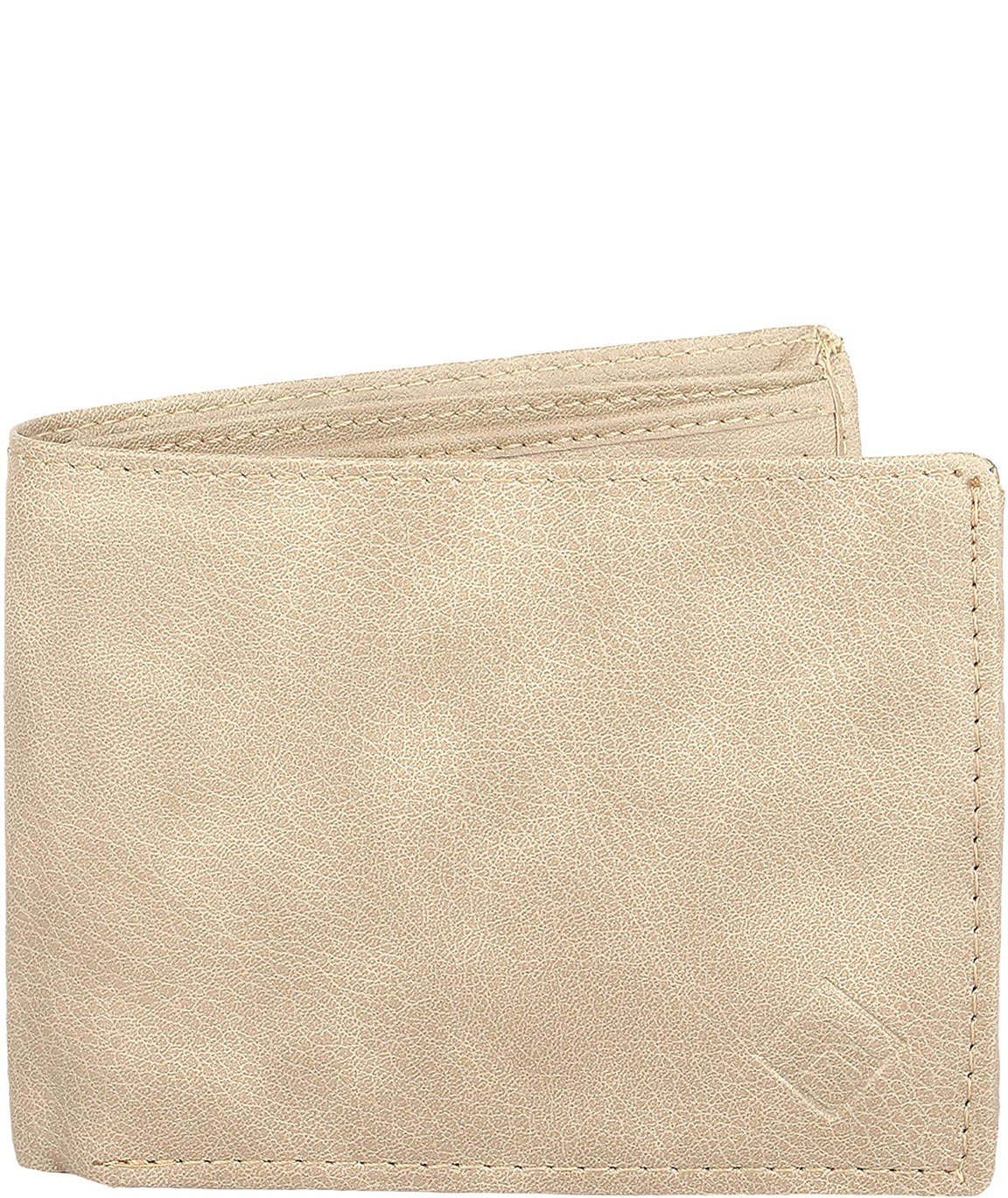 alfami Mens, Gents, Boys Beige Colour Shaded Leather Wallet (Purse), Sleek, Slim, Compact, Two Fold