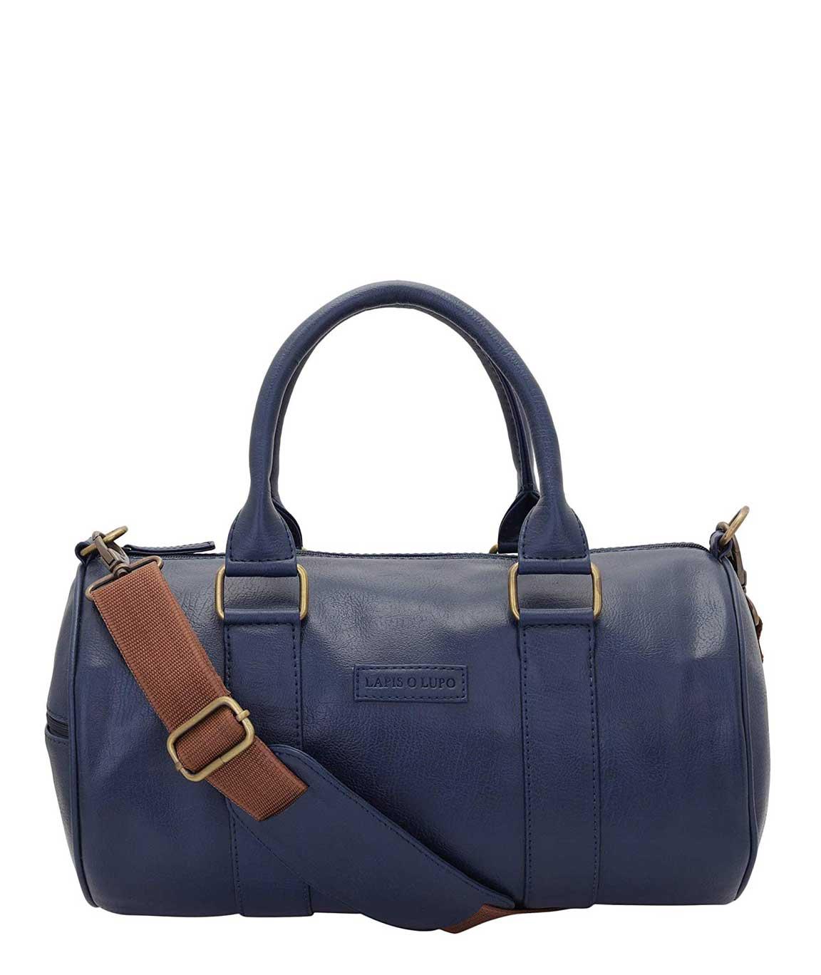 Lapis O Lupo Crush Men`s Synthetic Duffle Bag (Blue)