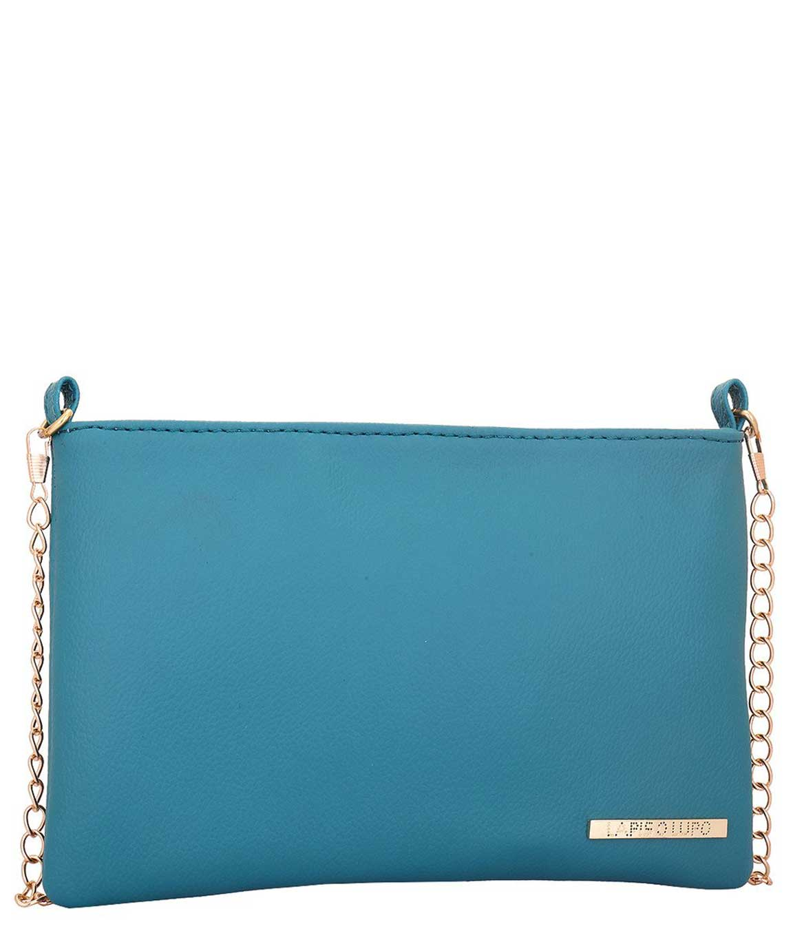 Lapis O Lupo Women`s PU Turquoise Sling Bag