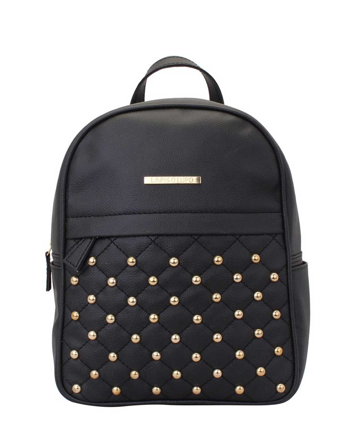 Lapis O Lupo Dong Repeat Women Backpack (Black)