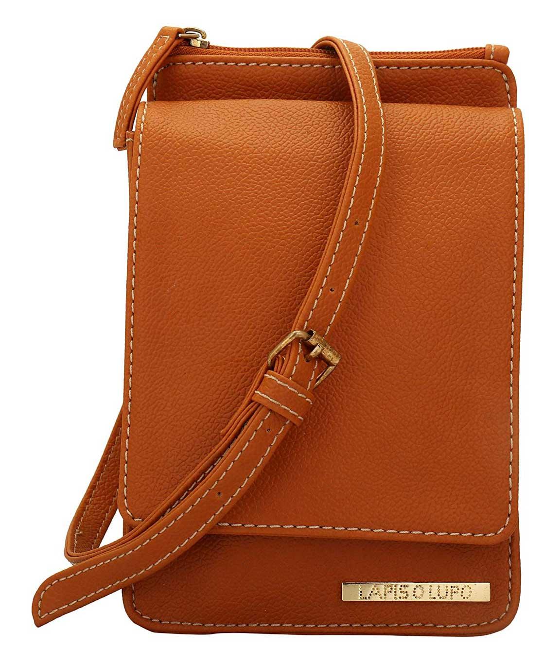 Lapis O Lupo Women`s Sling Bag (Tan, LLSL0019TN)