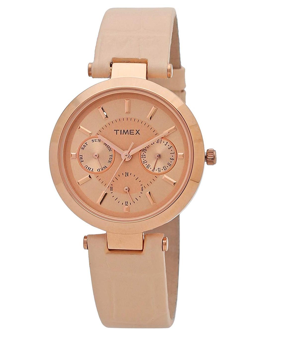 Timex Analog Pink Dial Women`s Watch - TWEL11811