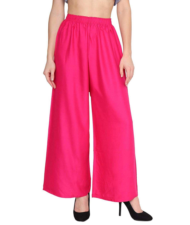 Women`s Rayon Palazzo Pant pink