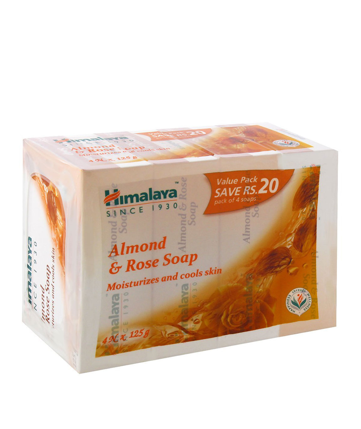Himalaya Herbals Soap, Almond and Rose, 125gm (Pack of 4)