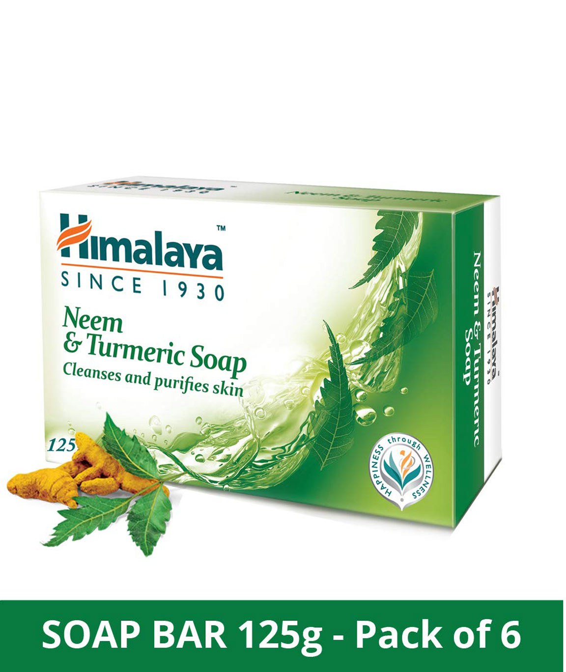 Himalaya Herbals Neem And Turmeric Soap, 125gm (Pack Of 6)