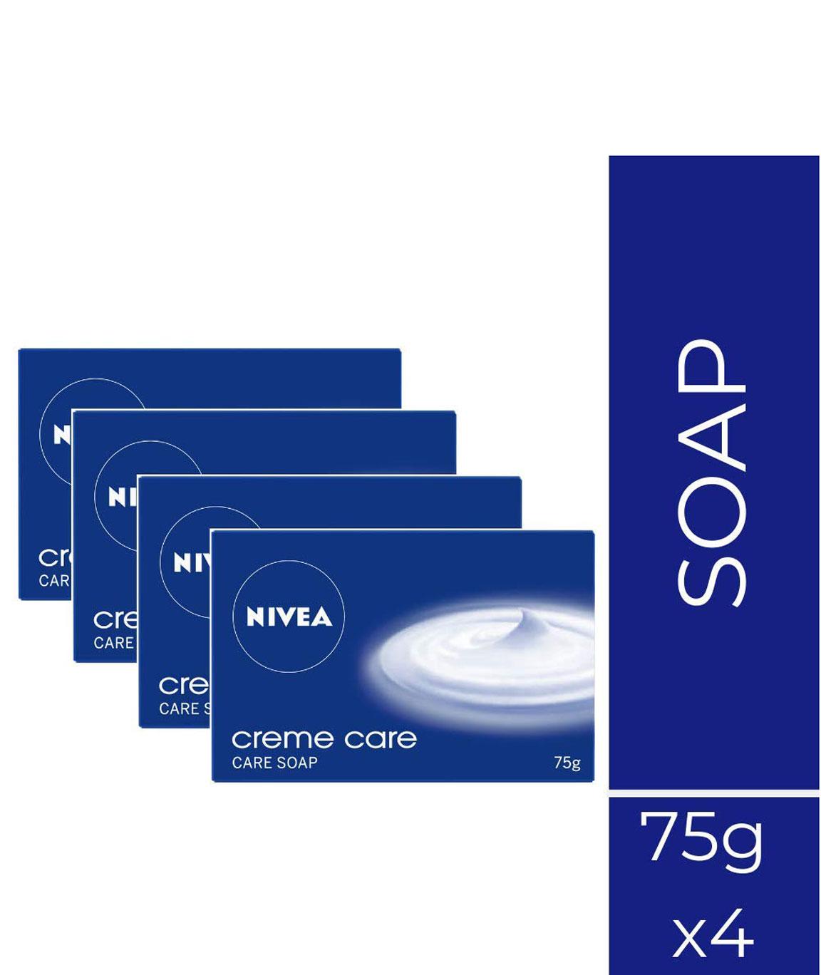 Nivea Creme Care Soap, 75gm (Buy 3 get 1)