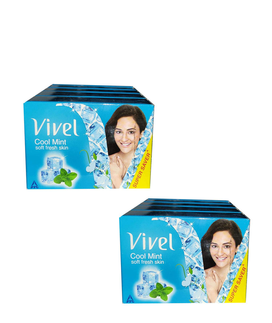 VIVEL cool mint soft skin soap 100 gm each pack8 SOAP