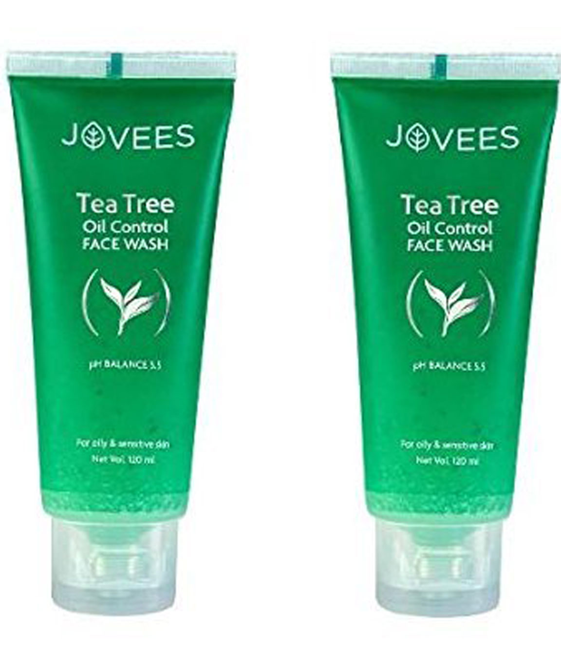 Jovees Tea Tree Oil Control Face Wash, 120 gm -Pack of 2
