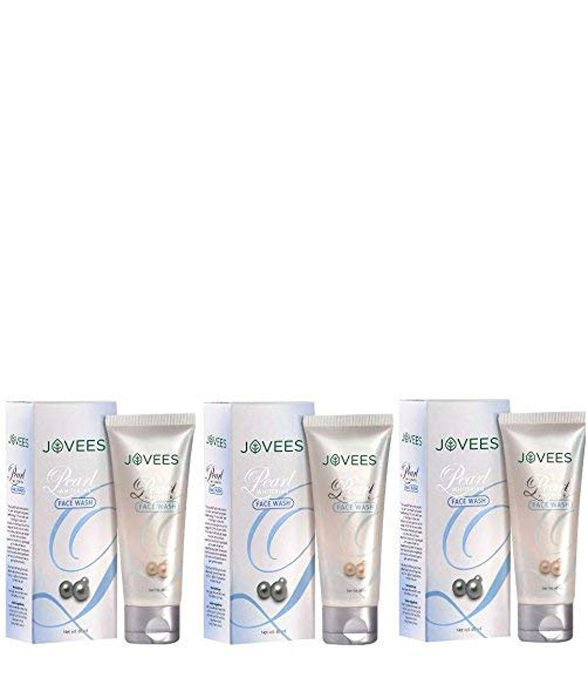 Jovees Pearl Whitening Face Wash, 60gm (Pack of 3)