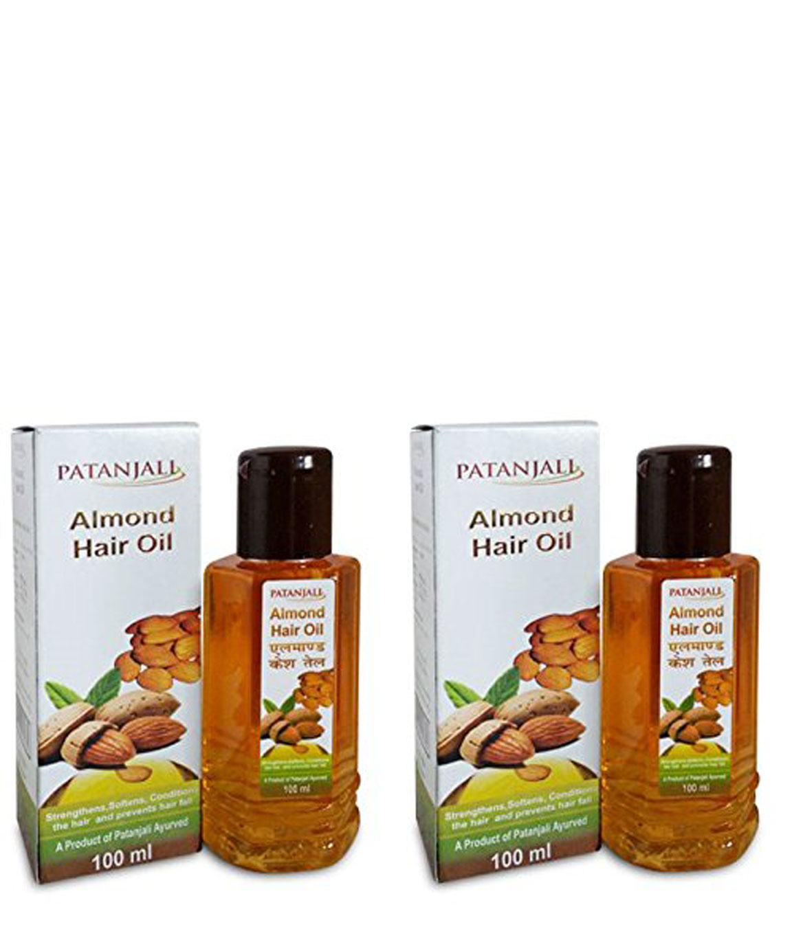 Patanjali Almond Hair Oil, 100ml (Pack of 2)