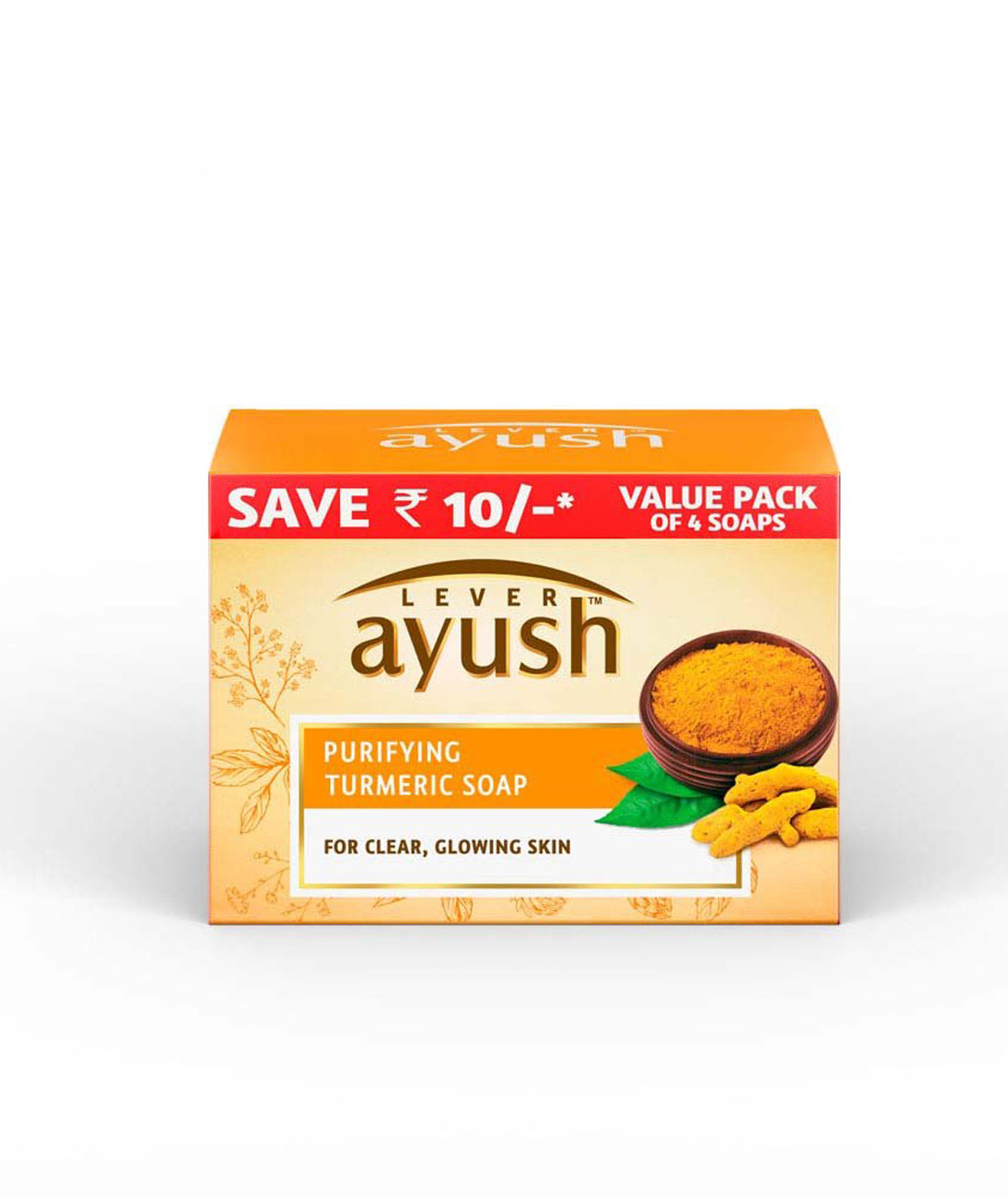 Lever Ayush Purifying Turmeric Soap 100g (Pack of 4)