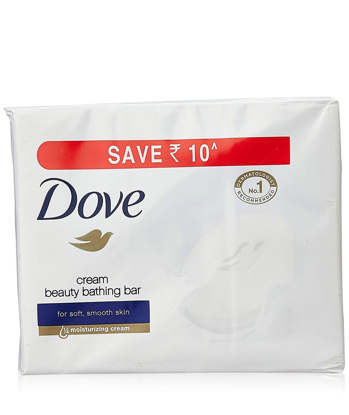 Dove Cream Beauty Bathing Bar 3 X 100g