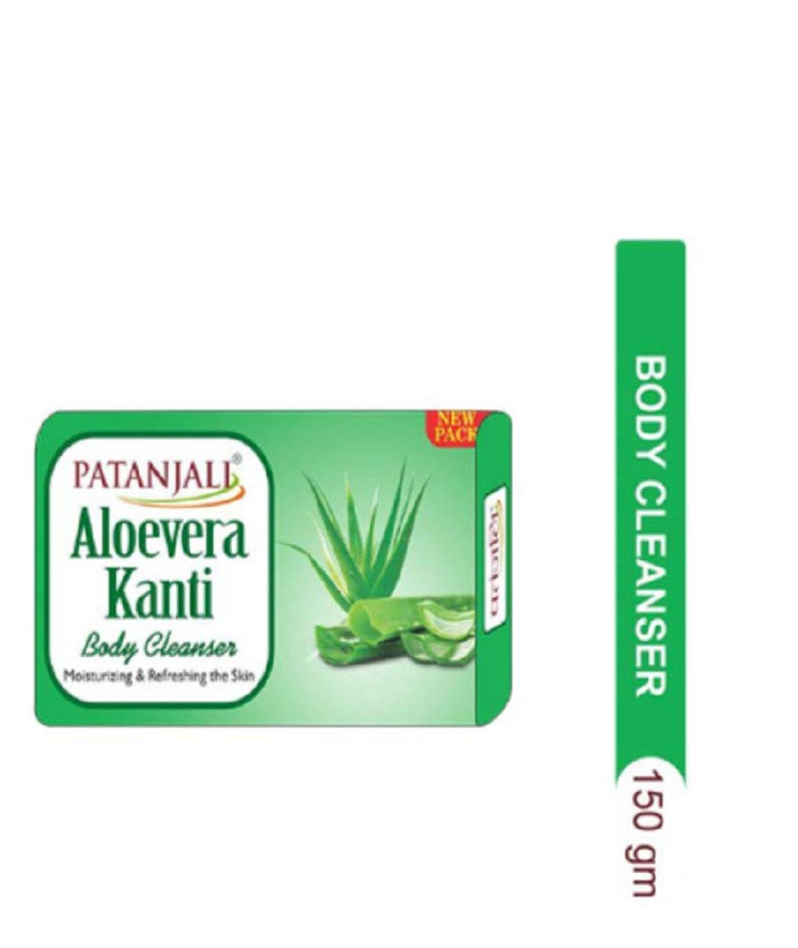 Patanjali Aloevera Kanti Body Cleanser Soap 57gm - Pack of 4