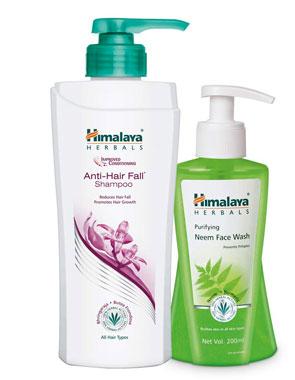 Himalaya Neem Face Wash (200 mL) and Himalaya Anti Hairfall Shampoo (700 mL)