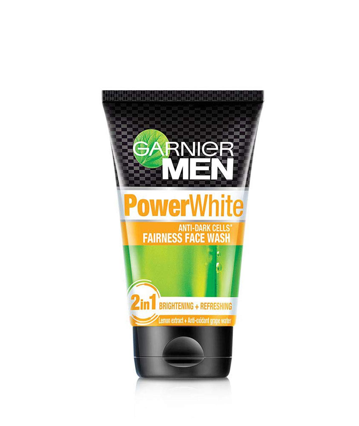 Garnier Men Power White Anti-Dark Cells Fairness Face Wash, 100gm