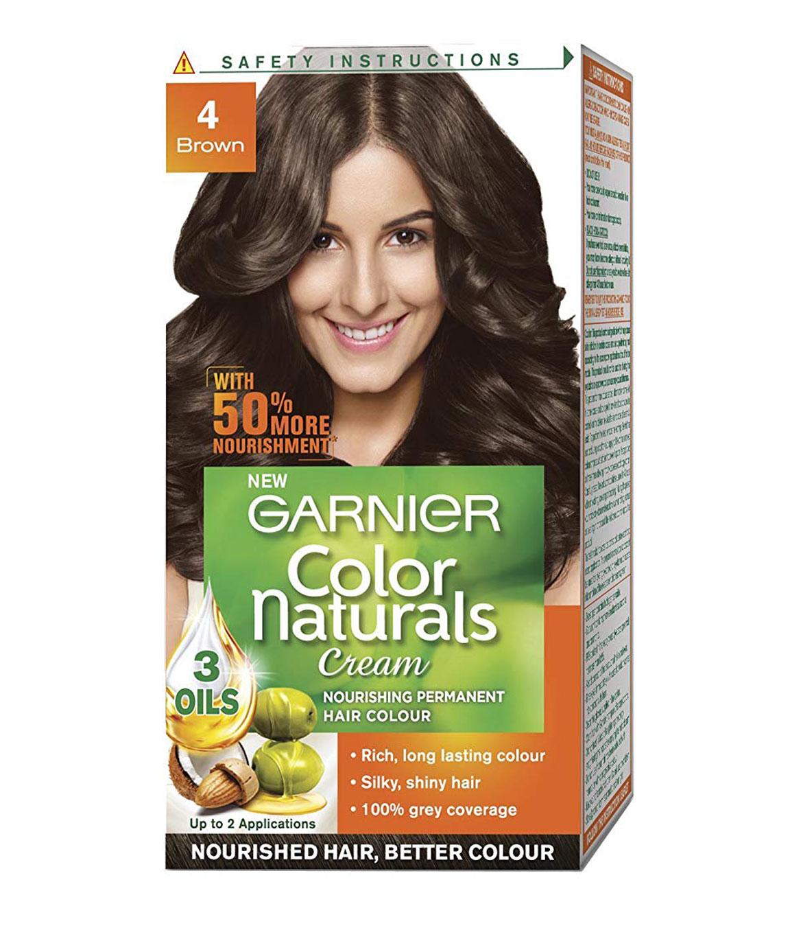 Garnier Color Naturals Mini Shade 4 Brown, 35ml + 30g