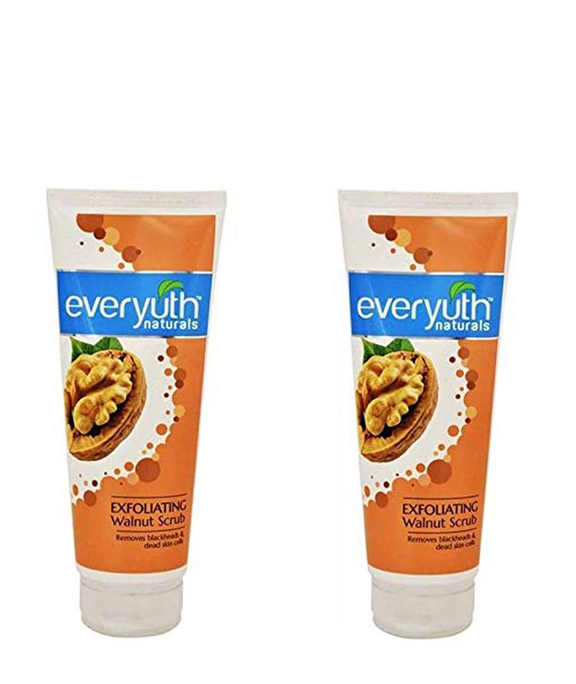 Everyuth Exfoliating Walnut Face Scrub (50gms*2qty), For Black heads and Dead Skin Cells