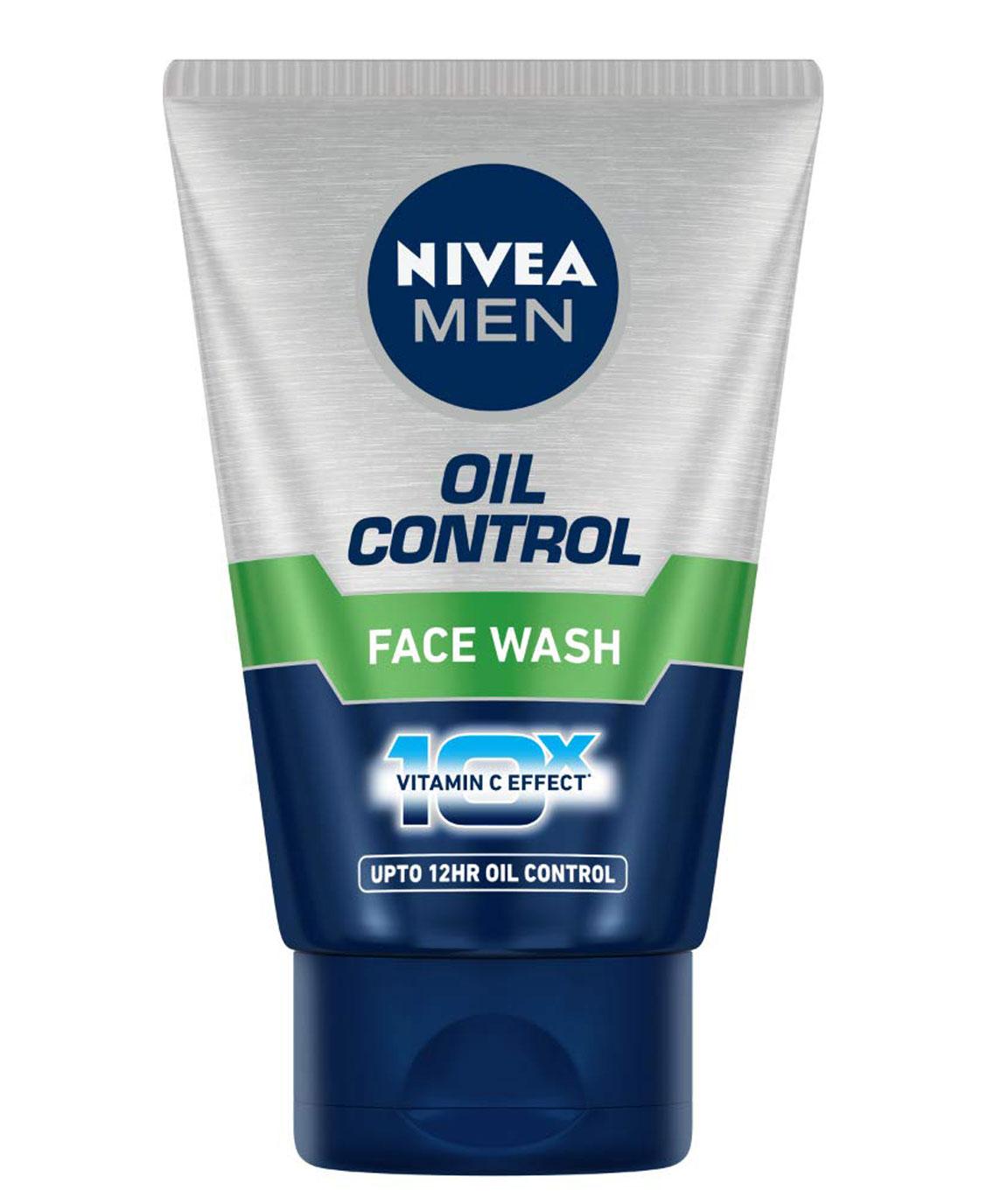 NIVEA MEN Face Wash, Oil Control, 10x Vitamin C, 50ml