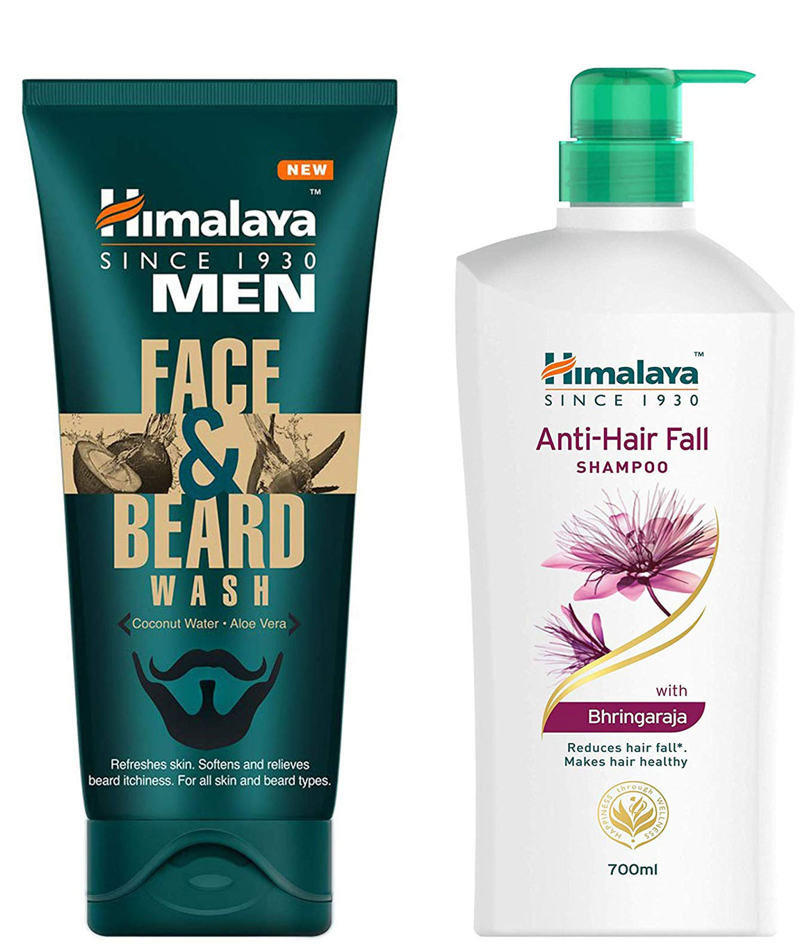 Himalaya Men Face And Beard Wash 80ml and Himalaya Anti Hair Fall Shampoo 700ml