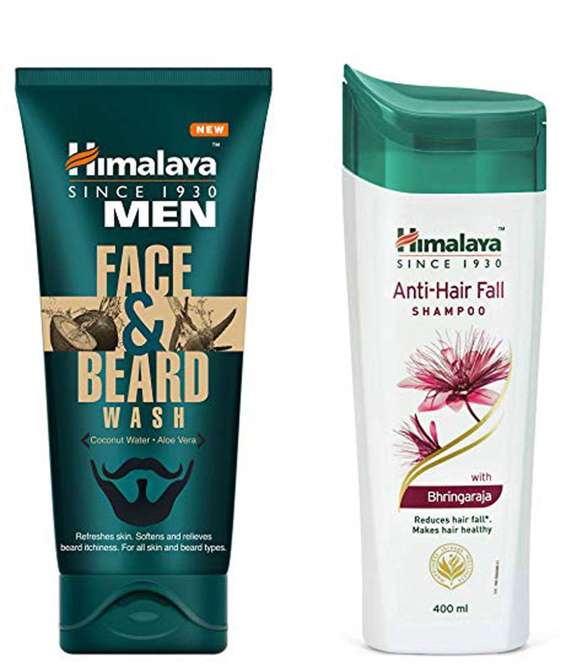 Himalaya Men Face And Beard Wash 80ml and Himalaya Herbals Anti Hair Fall Shampoo 400ml