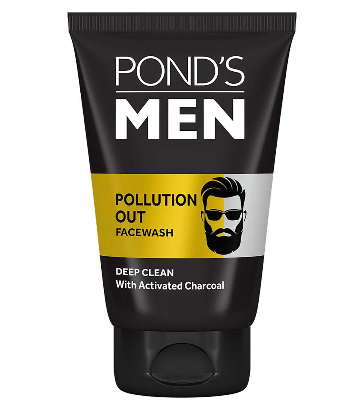Ponds Men Pollution Out Activated Charcoal Deep Clean Facewash 50 g