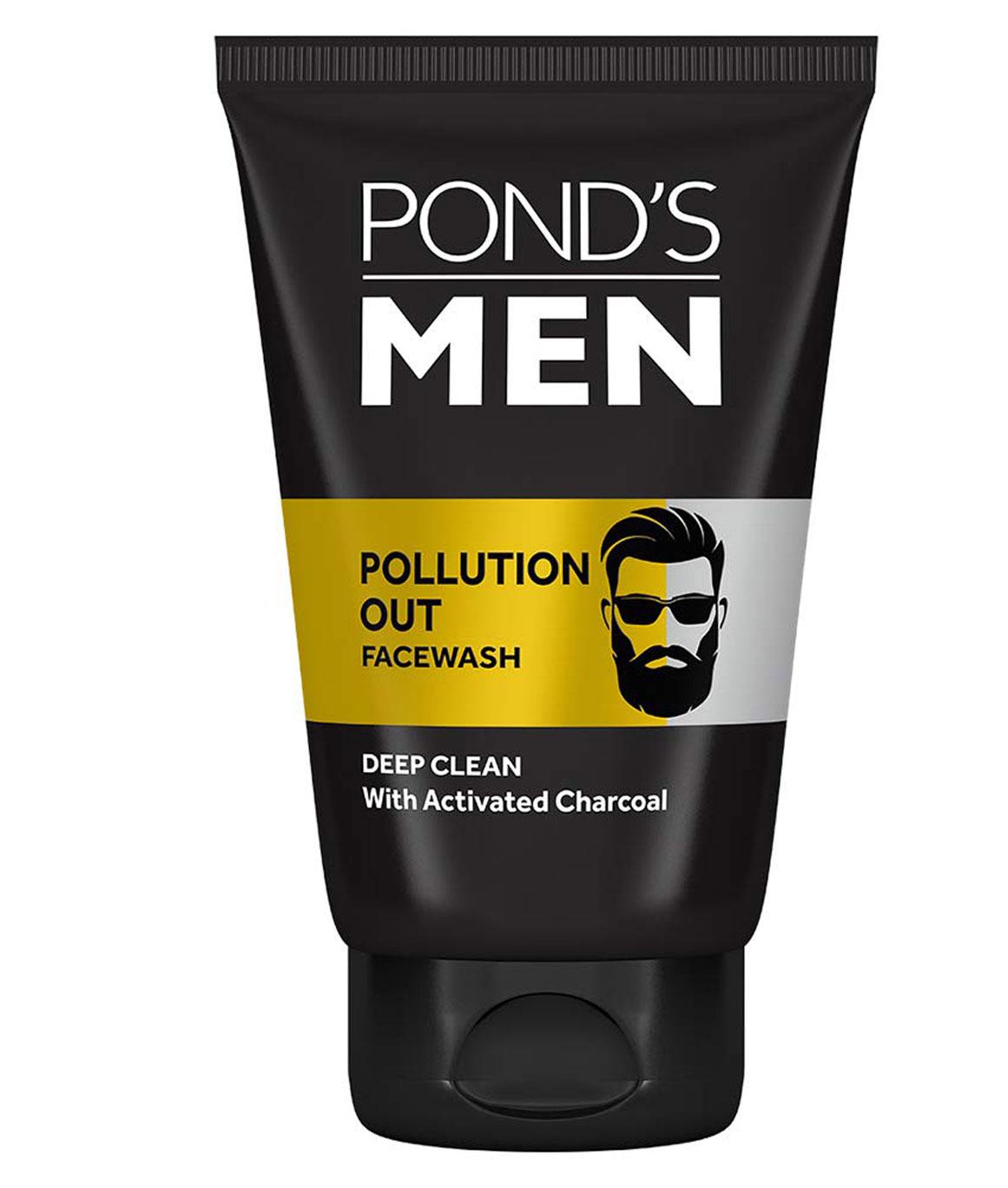 Ponds Men Pollution Out Activated Charcoal Deep Clean Facewash 100 g