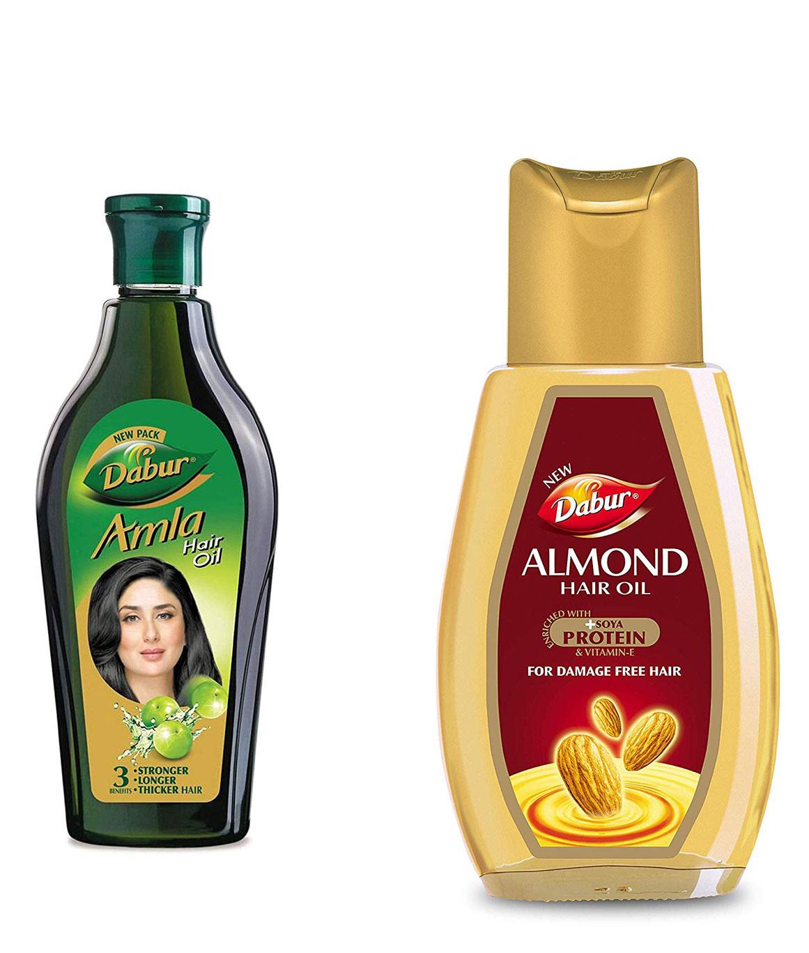 Dabur Amla Hair Oil 450ml and Dabur Almond Hair Oil 500ml Combo Pack