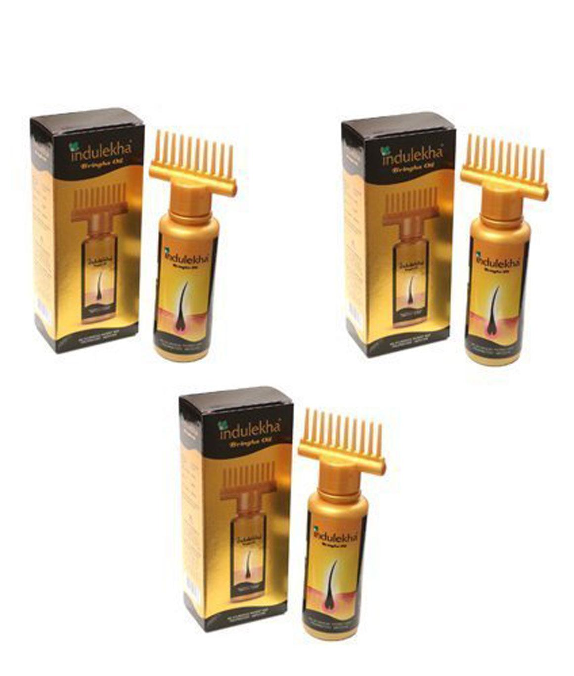 3 x Indulekha Bringha Complete Hair Care Oil 100ml