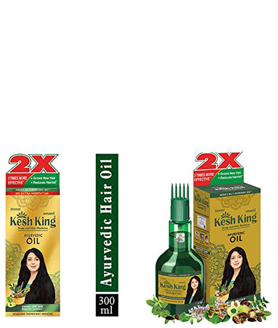 Kesh King Kesh King Ayurvedic Scalp and Hair Oil, 300 ml and Kesh King Ayurvedic Scalp and Hair Oil, 100ml
