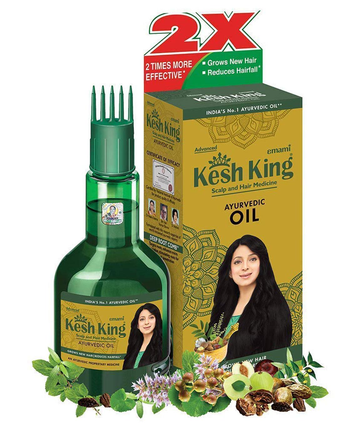 Kesh King Ayurvedic Scalp and Hair Oil, 60ml (60ml)