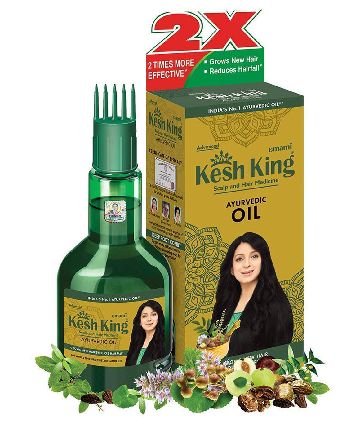 Kesh King Ayurvedic Scalp and Hair Oil, 60ml (60ml - Pack of 2)
