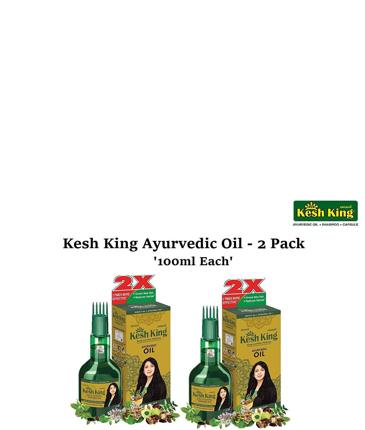 Kesh King Hair Oil - 100ml + 20% Extra (Pack of 2)