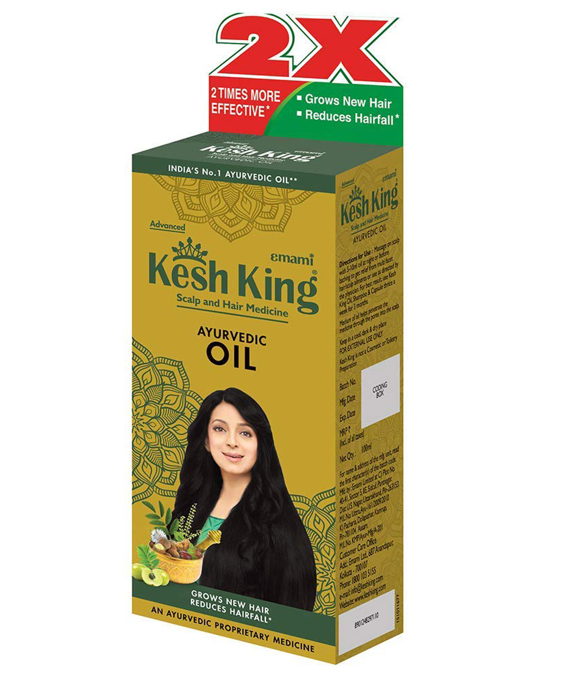 Kesh King Hair Oil - 100ml + 20% Extra (Pack of 3)