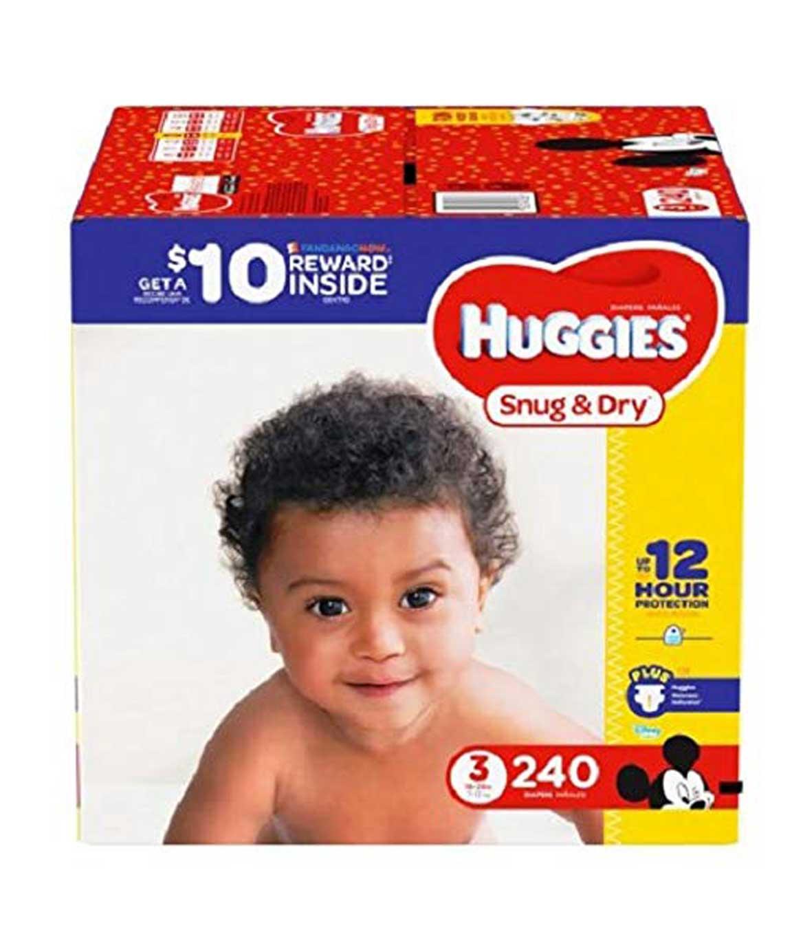 3 Pk of Huggies Snug & Dry Diapers, Size 6 Plus Wetness Indicator 21 Count