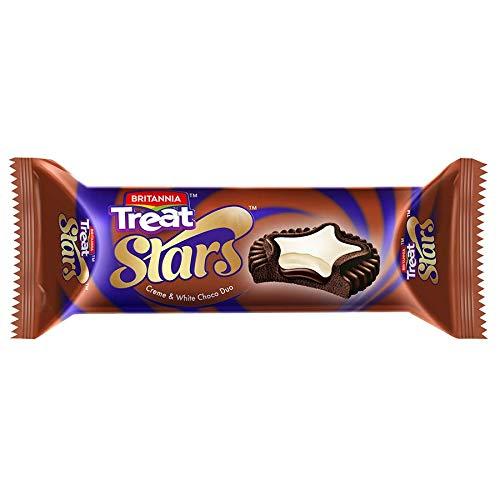 Britannia Treat Stars White Choco Duo Cookies