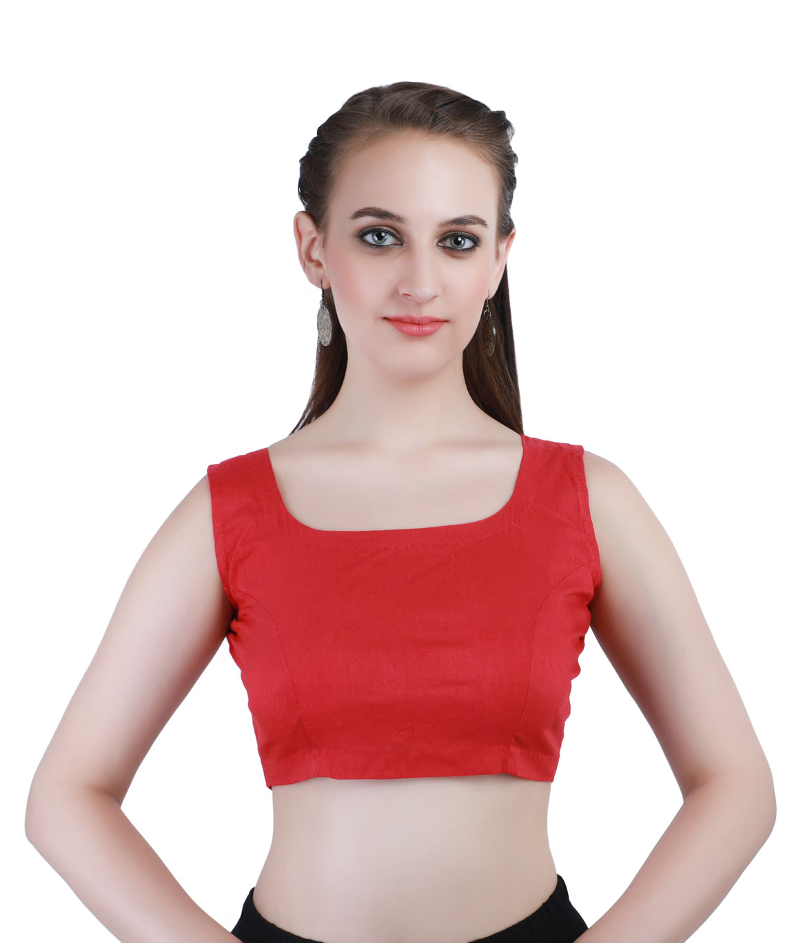Pink Cotton Silk Back-Open Blouse