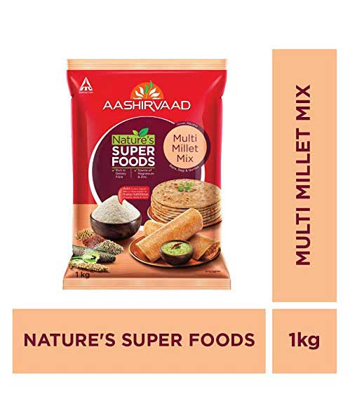 Aashirvaad Nature`s Super Foods Multi Millet Mix Pouch, 1 kg