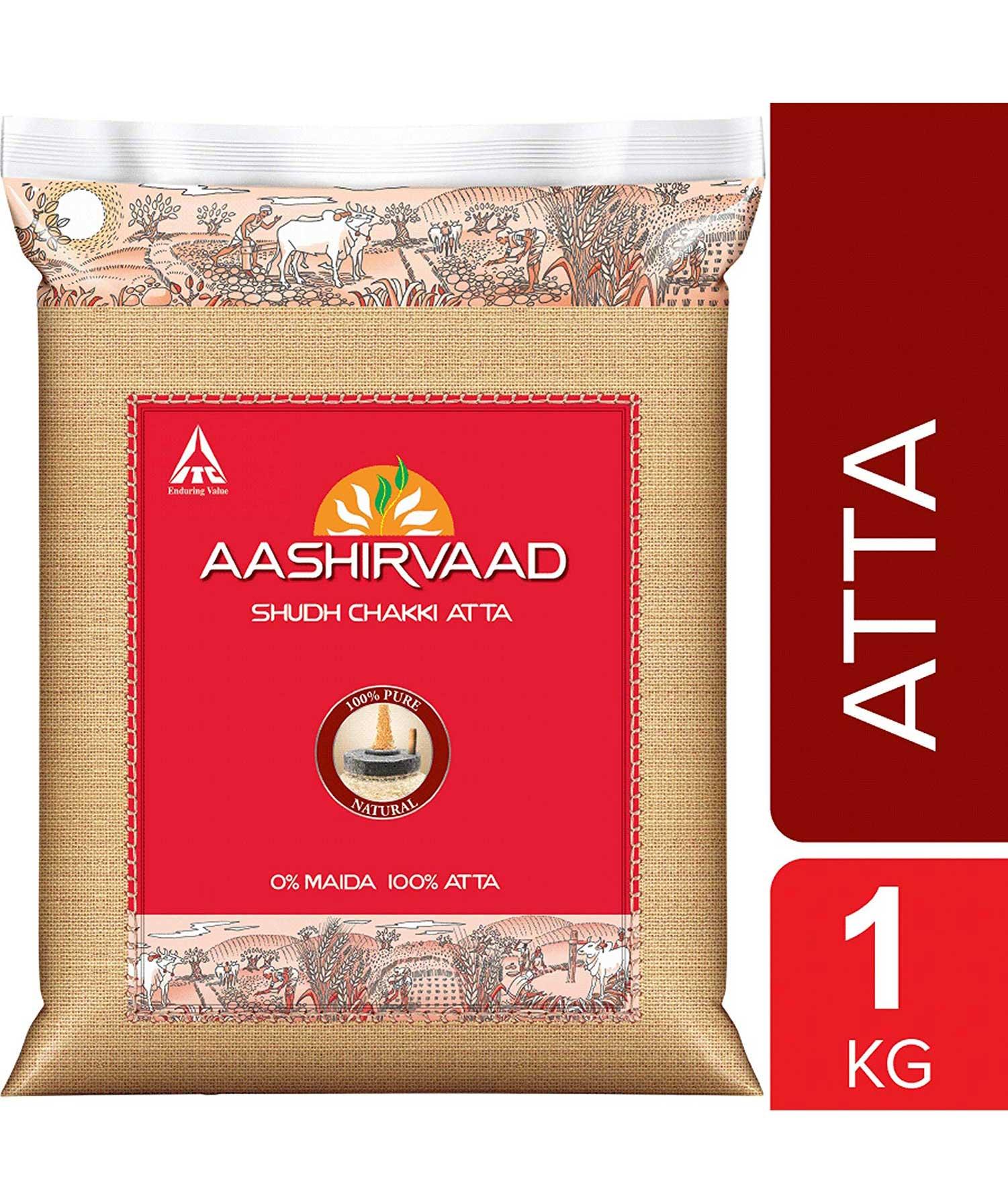 Aashirvaad Shudh Chakki Atta, 1 kgAashirvaad Shudh Chakki Atta, 1 kg