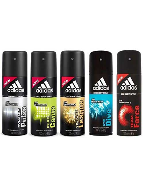 Adidas Deodorant For Men 150 Ml (Pack Of 5)
