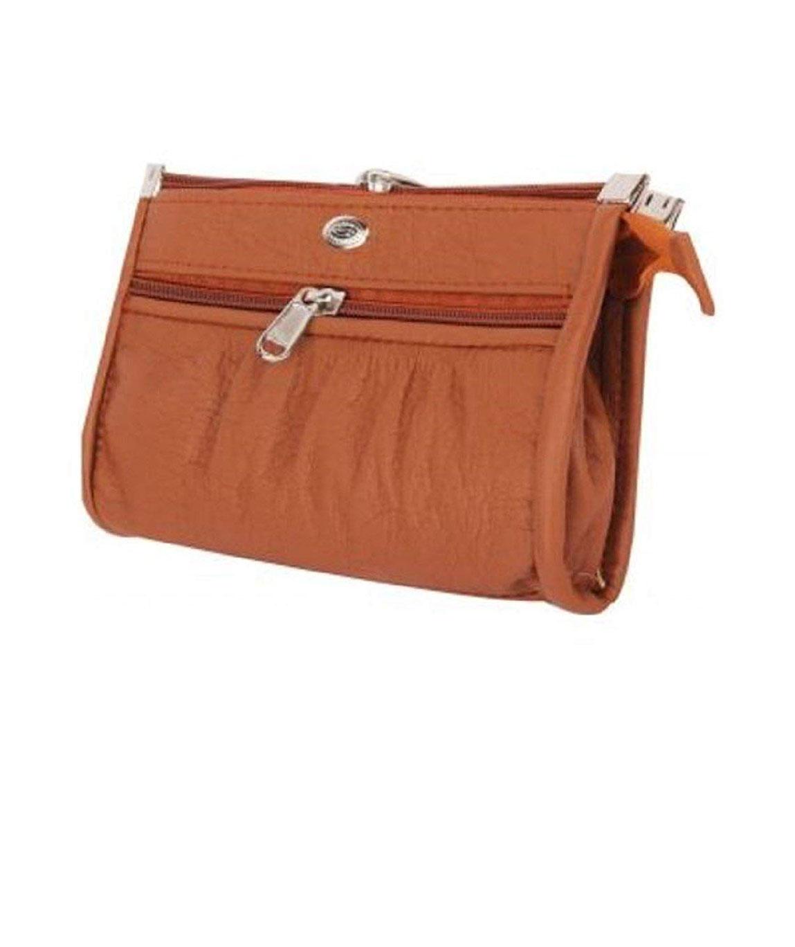 Ajmani Women/ Girls Wallet / Handbag / Hand Held Purse, Color Brown