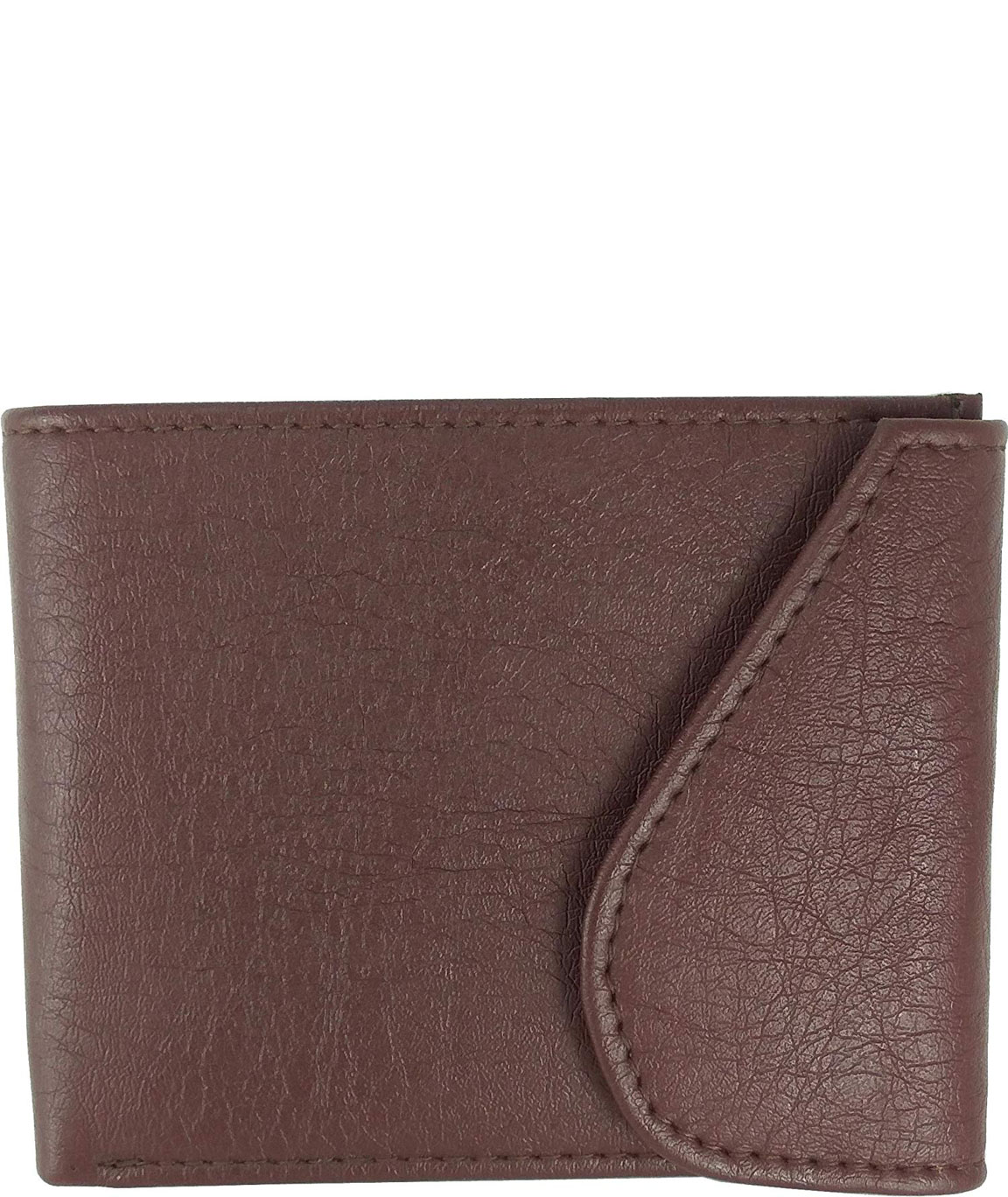 Alfami Brown Wallet for Men with Flap Cover