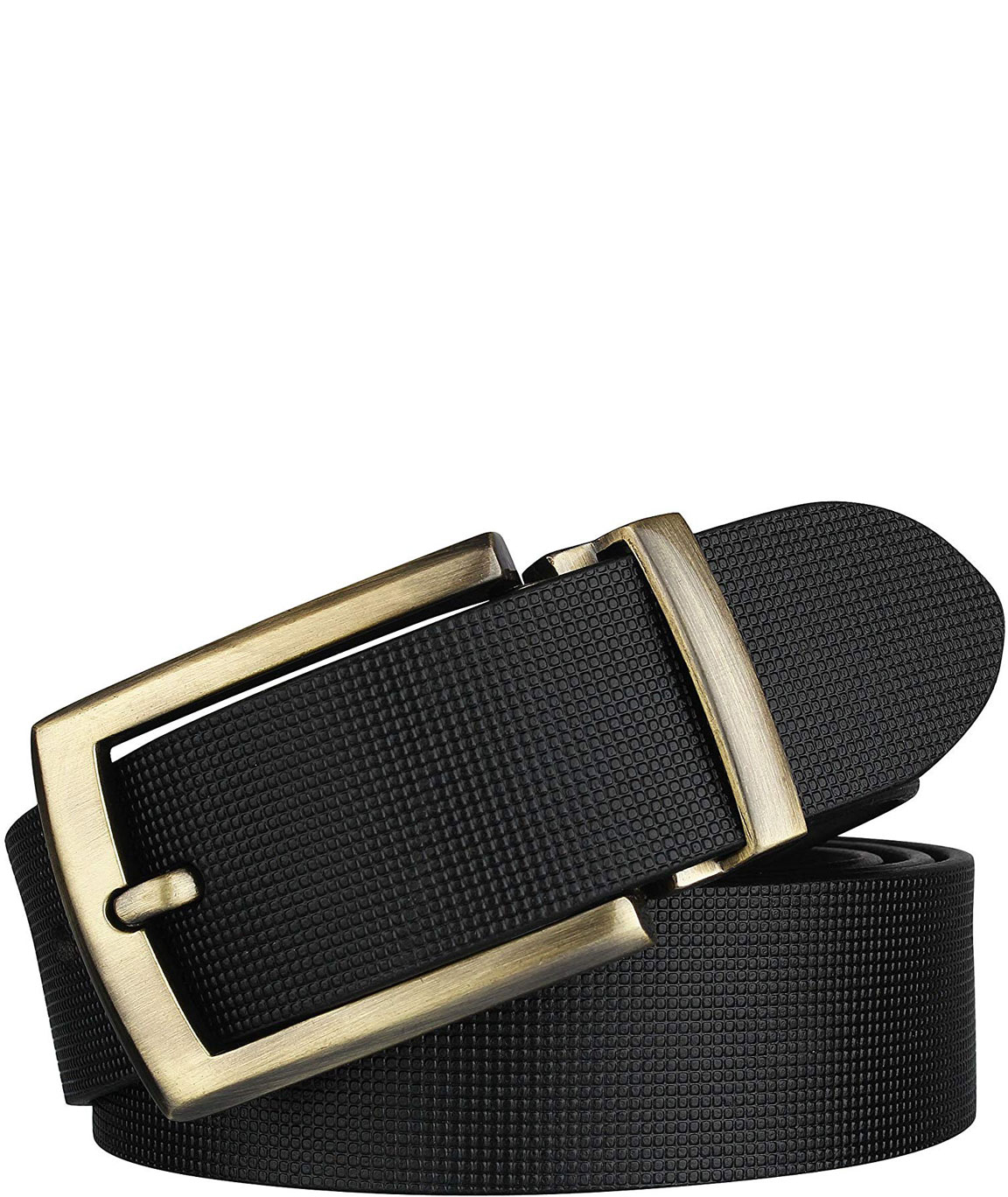 Alfami formal/casual black genuine leather belts for mens- 1 year guarantee Gift for gents BKSQ-05