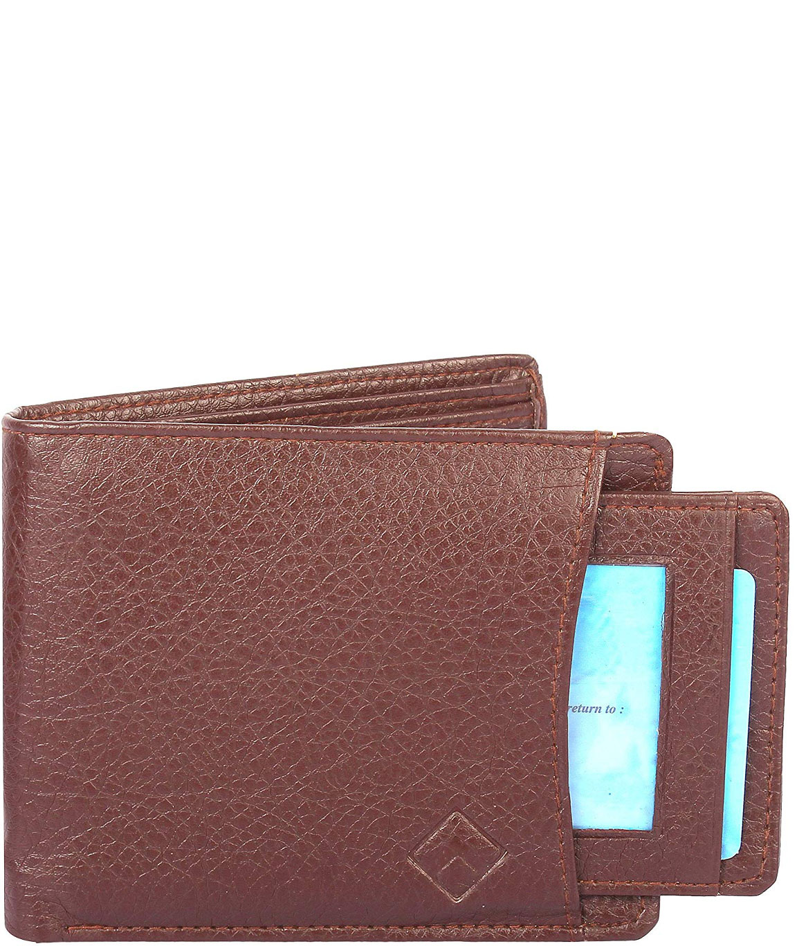 Alfami Gent`s Brown Leather Executive Wallet | Quick Excess Window ID
